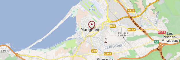 Carte Marignane - Provence