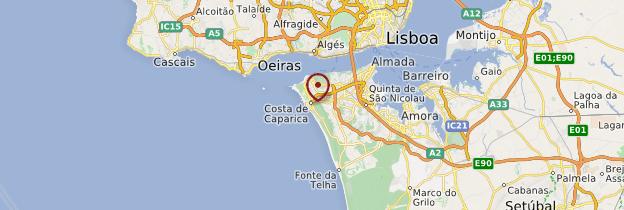 Carte Costa da Caparica - Portugal