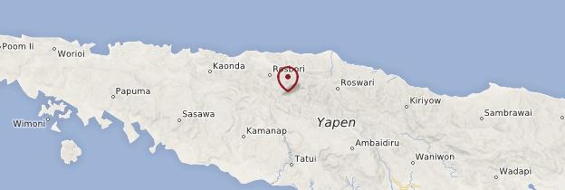 Carte Pulau Kanawa - Indonésie