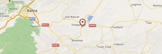 Carte Timgad - Algérie