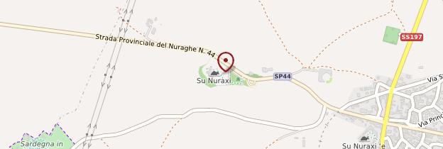 Carte Su Nuraxi - Sardaigne