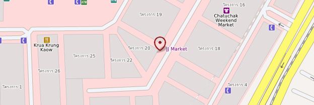 Carte Chatuchak Market - Bangkok