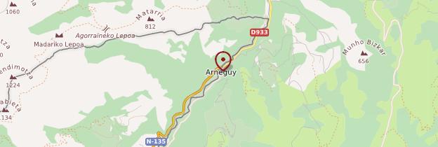 Carte Arnéguy - Pays basque et Béarn