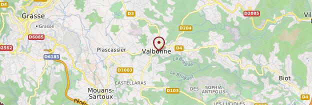 Carte Valbonne - Côte d'Azur