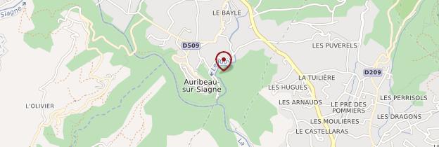 Carte Auribeau-sur-Siagne - Côte d'Azur