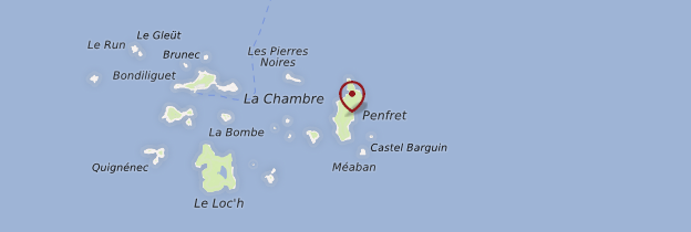 Carte Archipel des Glénan - Bretagne