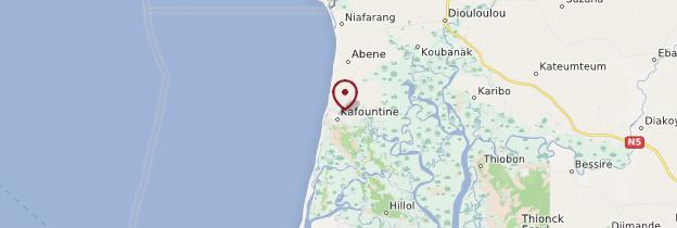 Carte Kafountine - Sénégal