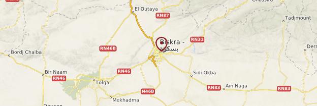 Carte Biskra - Algérie