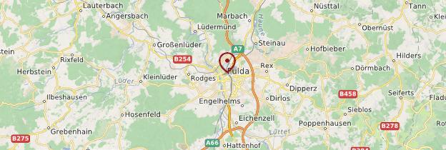 Carte Fulda - Allemagne