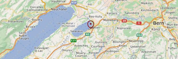 Carte Morat (Murten) - Suisse