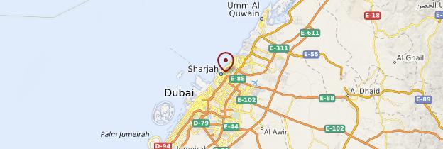 Carte Sharjah - Émirats arabes unis