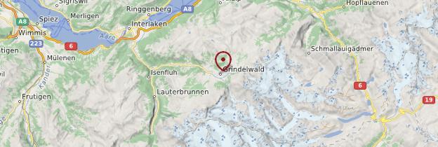 Carte Grindelwald - Suisse