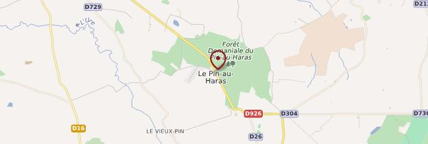 Carte Haras du Pin (Le Pin-au-Haras) - Normandie