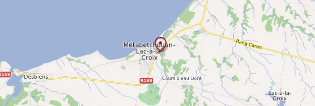 Carte Métabetchouan - Québec