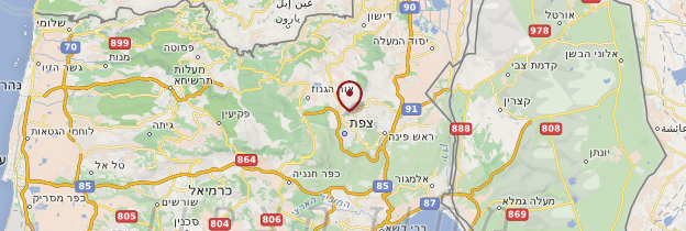 Carte Safed - Israël, Palestine