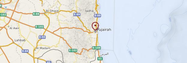 Carte Fujairah - Émirats arabes unis