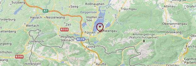 Carte Schwangau - Allemagne