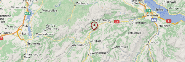 Carte Boltigen - Suisse
