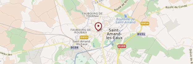 Carte Saint-Amand-les-Eaux - Nord-Pas-de-Calais