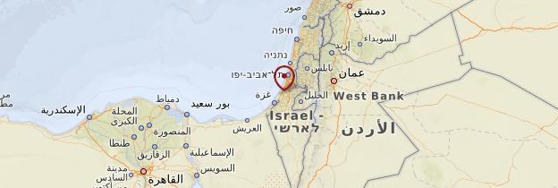 Carte Ashkelon - Israël, Palestine