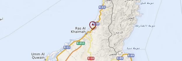 Carte Ras el Khaimah - Émirats arabes unis