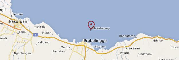 Carte Gili Ketapang - Indonésie