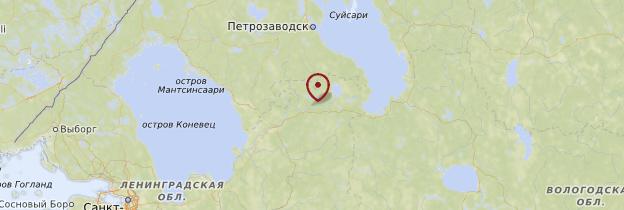 Carte Svirstroy - Russie
