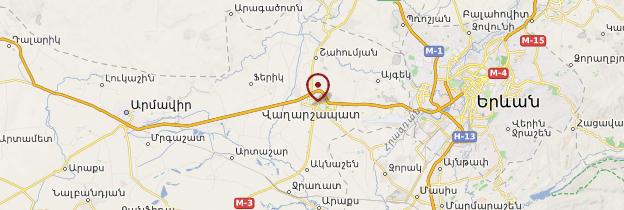 Carte Etchmiadzin - Arménie