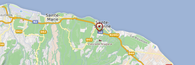 Carte Sainte-Suzanne - Réunion
