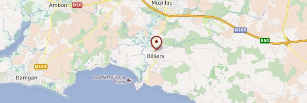 Carte Billiers (Beler) - Bretagne