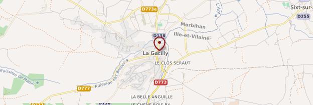Carte La Gacilly (Gazilieg) - Bretagne