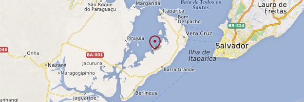 Carte Ilha de Itaparica - Brésil