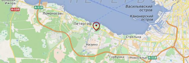 Carte Peterhof - Russie