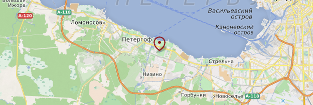 Carte Église de Peterhof - Russie
