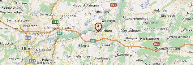 Carte Günzburg - Allemagne
