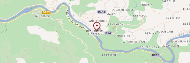 Carte Brousse-le-Château - Midi toulousain - Occitanie