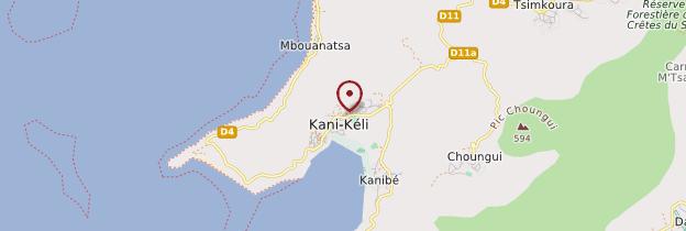 Carte Kani-Kéli - Mayotte