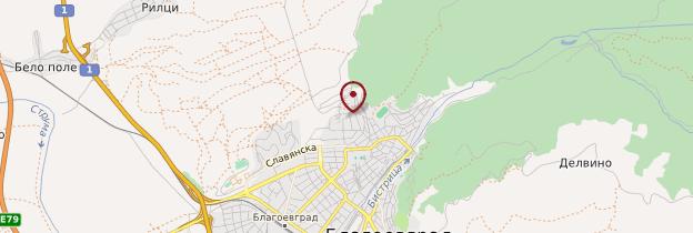 Carte Blagoevgrad - Bulgarie