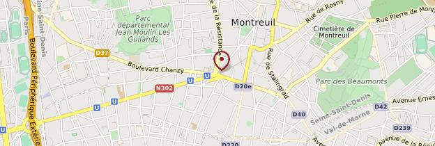 Carte Montreuil - Île-de-France