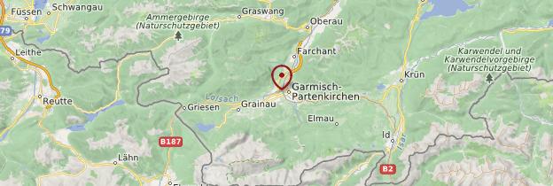 Carte Garmisch-Partenkirchen - Allemagne