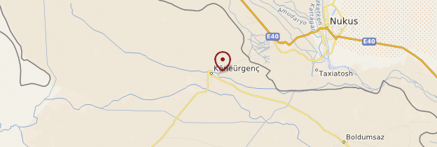 Carte Kunya-Urgench - Turkménistan