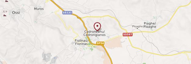 Carte Codrongianos - Sardaigne
