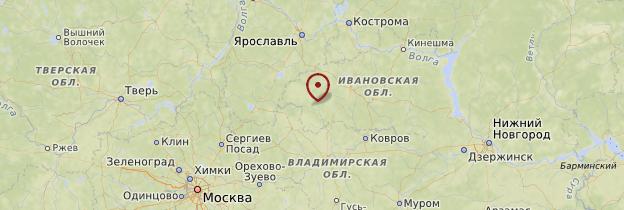 Carte Anneau d'Or - Russie