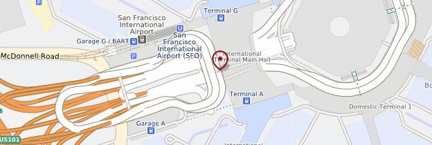 Carte Aéroport international de San Francisco - San Francisco
