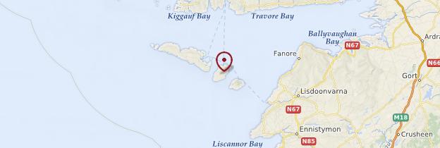 Carte Îles d'Aran (Oileáin Árann) - Irlande