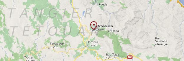 Carte Chefchaouen - Maroc