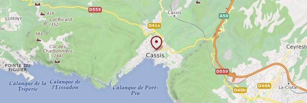 Carte Cassis - Provence