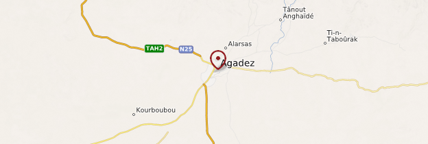 Carte Agadez - Niger