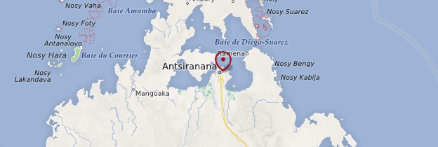 Carte Diégo-Suarez (Antsiranana) - Madagascar