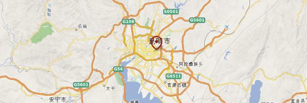 Carte Kunming - Chine